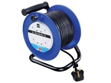 Heavy-Duty Cable Reel 240V 13A 4-Socket Thermal Cut-Out 30m